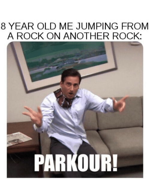 Rock On: 8 YEAR OLD ME JUMPING FROM  A ROCK ON ANOTHER ROCK:  PARKOUR!
