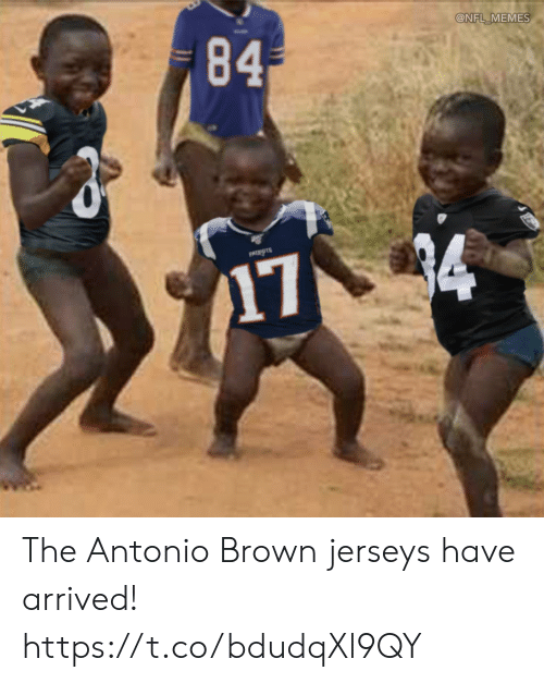 jerseys: 84  @NFL MEMES  PATIOTS  174 The Antonio Brown jerseys have arrived! https://t.co/bdudqXl9QY
