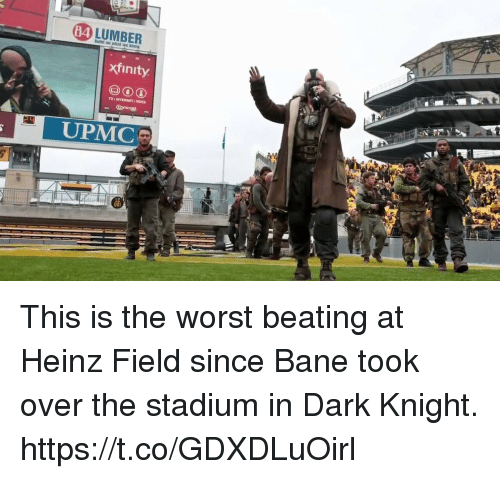 Xfinity: 84  xfinity  TV I INTERNET VOICE  UPMC This is the worst beating at Heinz Field since Bane took over the stadium in Dark Knight. https://t.co/GDXDLuOirl