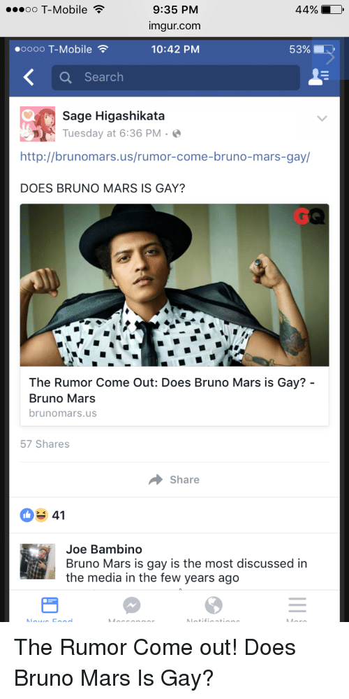 DOES BRUNO MAR IS GAY