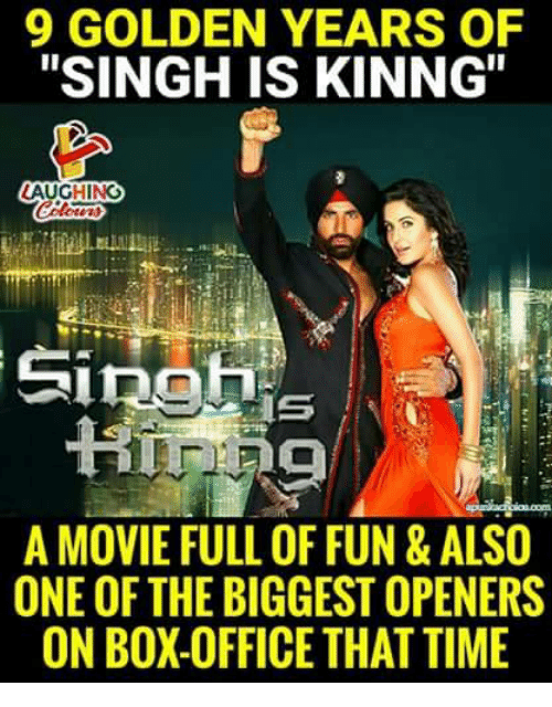 """Box Office, Movie, and Office: 9 GOLDEN YEARS OF  """"SINGH IS KINNG""""  LAUGHING  A MOVIE FULL OF FUN & ALSO  ONE OF THE BIGGEST OPENERS  ON BOX-OFFICE THATTIME"""