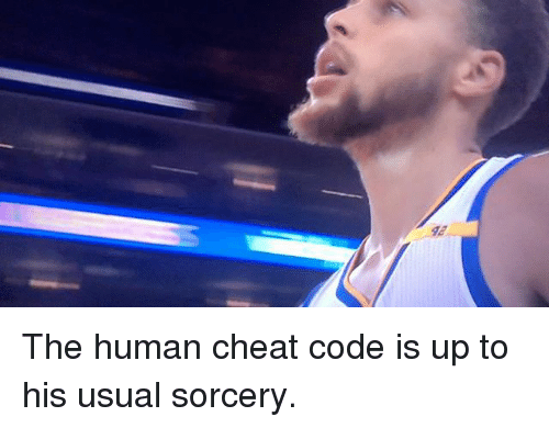 Basketball, Golden State Warriors, and Sports: 92 The human cheat code is up to his usual sorcery.
