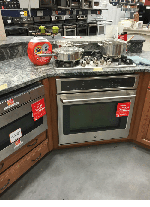 Microwave, Oven, and For: 949  Tide  PULL  FOR  Ca  $1201  MICROWAVE  DRA  $2429  PULL  GE Wal Oven