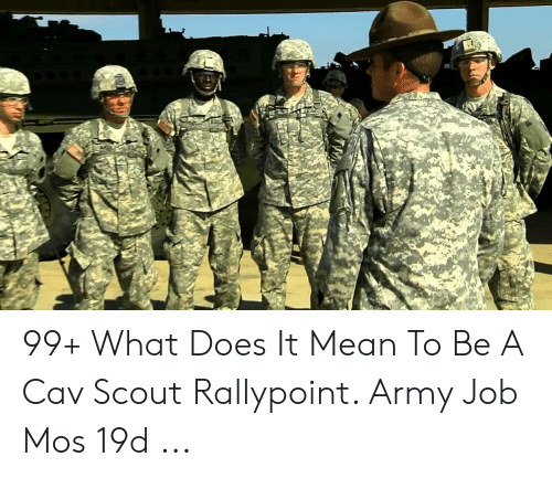 Rallypoint: 99+ What Does It Mean To Be A Cav Scout Rallypoint. Army Job Mos 19d ...