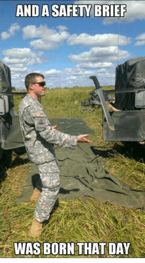 Military, Anda, and Safety: ANDA SAFETY BRIEF  WAS BORN THAT DAY