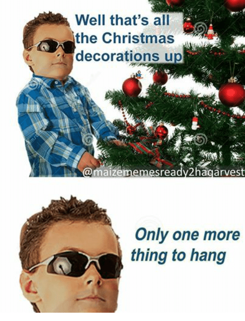 Christmas, Ups, and Dank Memes: Well Well that's all  the Christmas  decorations up  arVes  Only one more  thing to hang