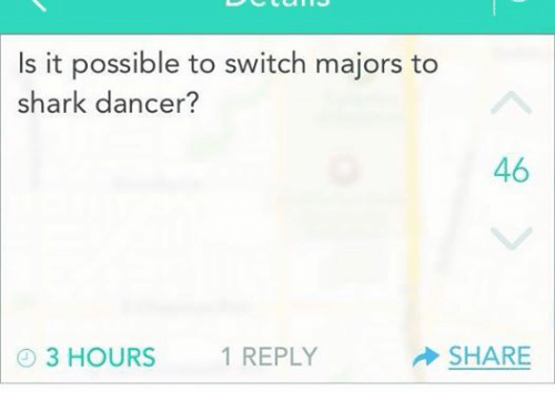Is it easy to switch majors?