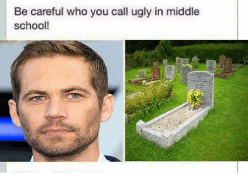 School, Ugly, and Be Careful Who You Call Ugly: Be careful who you call ugly in middle  school!