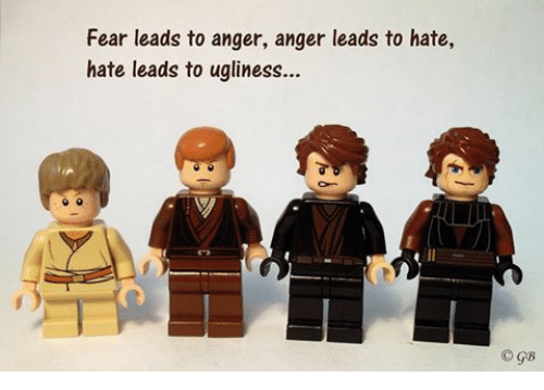 Facebook 4708dc fear leads to anger anger leads to hate hate leads to ugliness gb,Fear Leads To Anger Meme