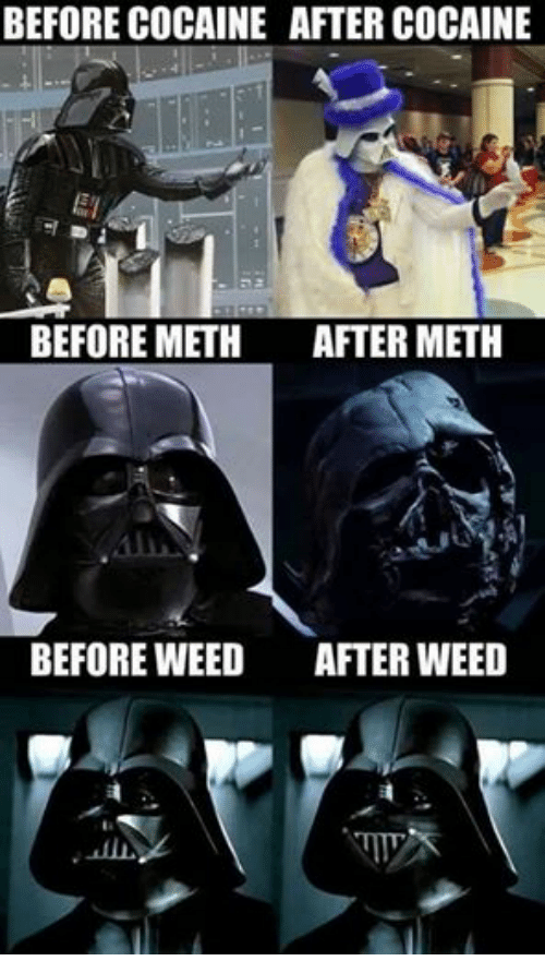 Star Wars, Weed, and Cocaine: BEFORE COCAINE AFTER COCAINE  ET  BEFORE METH  AFTER METH  BEFORE WEED  AFTER WEED