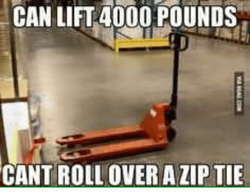 mechanic: CAN LIFT 4000 POUNDS  CANT ROLL OVER AZIP TIE