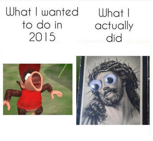 Dank Memes: What I wanted what I  to do in  actually  2015  did