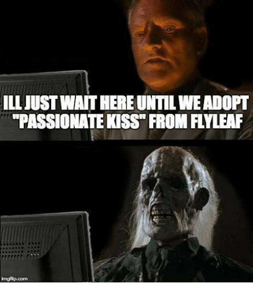 Christian Memes: ILL JUST WATTHEREUNTILWEADOPT  PASSIONATE KSS FROM FLYLEAF  imgflip.com