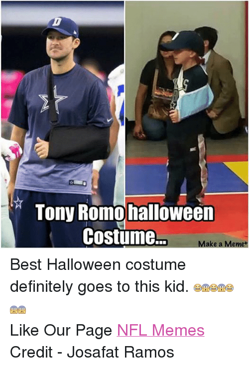 tony romo halloween costume make a meme best halloween costume