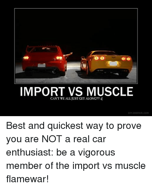 import vs muscle car mf alright we need ideas for a new. Black Bedroom Furniture Sets. Home Design Ideas