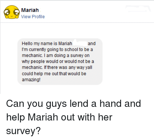 Doing a survey for school~?