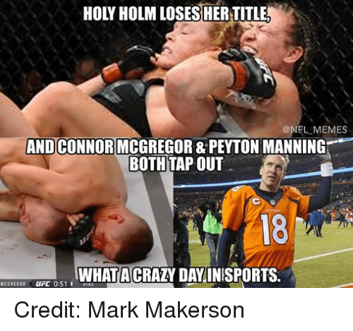 Facebook Credit Mark Makerson 0cd801 memes and connor mcgregor & peyton manning both tapout what acrazy