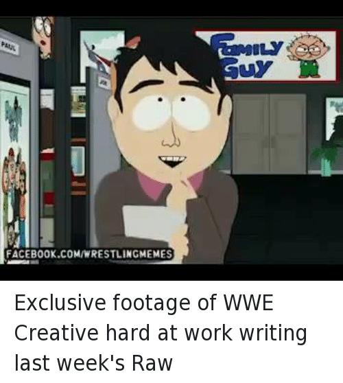 the creative writing wrestling Creative writing now reports to paul levesque, evp talent and live events  who has assumed more and more responsibility in the wwe front office since stepping away from a full-time.