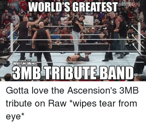 Love, Wrestling, and World Wrestling Entertainment: WORLD'S GREATEST  SPORTSEHDO  NWO  ACEBOOKCOMM  WRESTINGMEMES  3MBTRIBUTE BAND Gotta love the Ascension's 3MB tribute on Raw *wipes tear from eye*