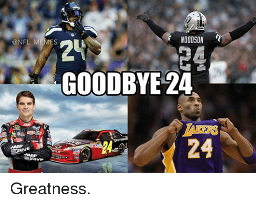 Driving, Meme, and Memes: WOODSON  24  @NFL MEMES  GOODBYE 24  DRIVE Greatness.