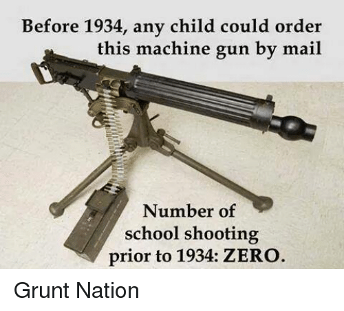 School Shooting Revolver: Before 1934 Any Child Could Order This Machine Gun By Mail