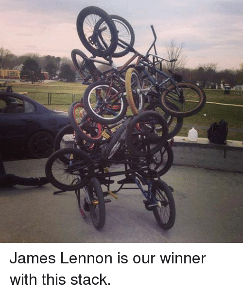 BMX: 宅 James Lennon is our winner with this stack.
