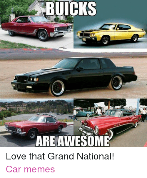 Muscle Car Decals >> BUICKS ARE AWESOME Love That Grand National! Car Memes | Cars Meme on SIZZLE