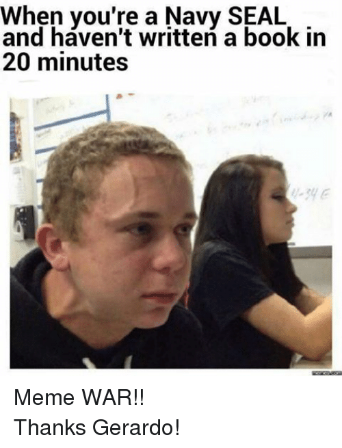 When You're a Navy SEAL and Haven't Written a Book in 20 ...