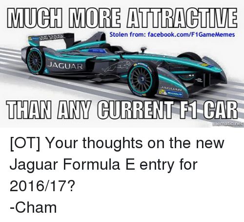 much more attractive stolen from facebookcomf1gamememes jaguar jaguar than any current f1 car. Black Bedroom Furniture Sets. Home Design Ideas