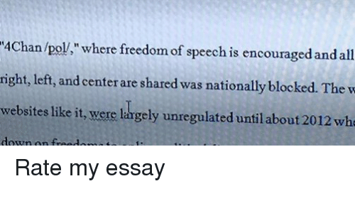 Rate my Essay?