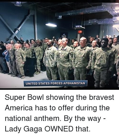 25+ Best Memes About National Anthem, Lady Gaga, Super ...