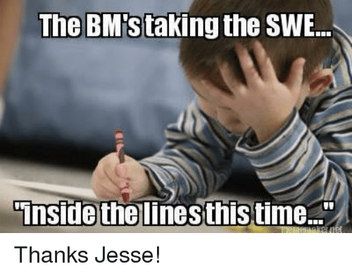 "Coast Guard: The BM staking the SWE...  Inside the linesthistime."" Thanks Jesse!"