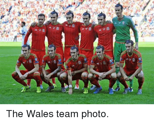 Soccer, Wale, and Wales: ga  Go The Wales team photo.