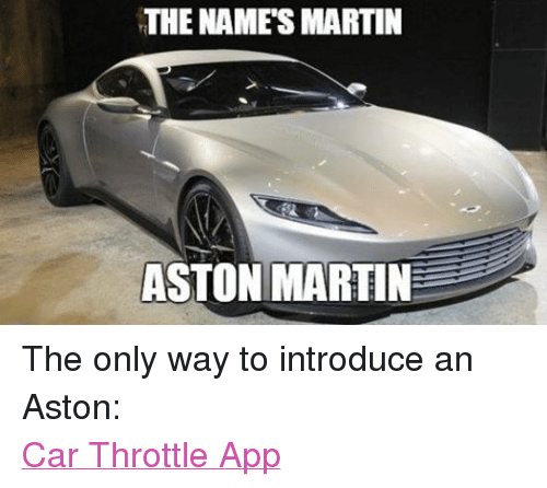 Funny Aston Martin Memes Of 2016 On SIZZLE