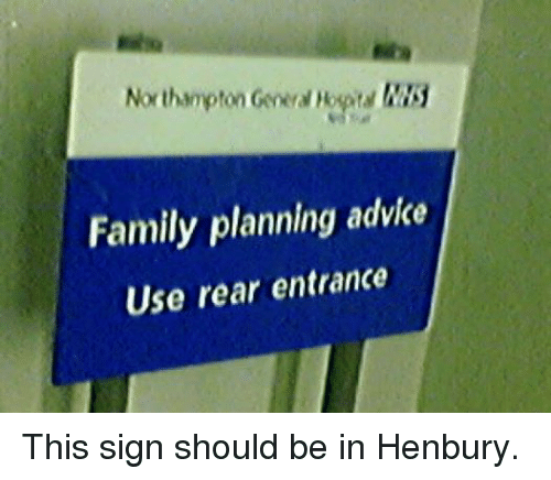 Northampton Family Planning Advice Use Rear Entrance This