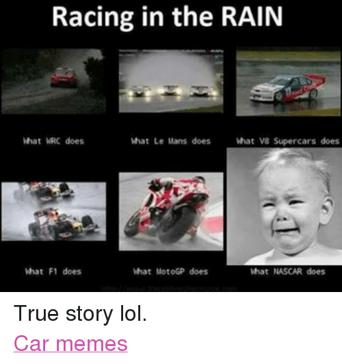 Racing in the RAIN What Le Mans Does What V8 Supercars Does What WRC Does What F1 Does What ...