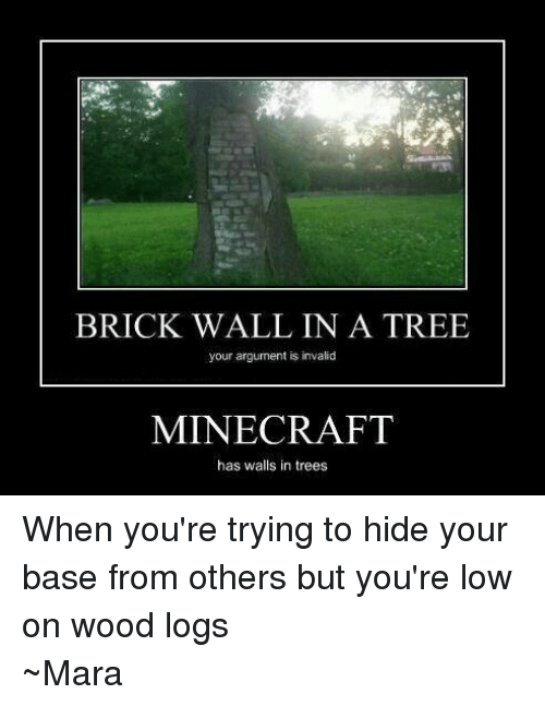 Brick wall in a tree your argument is invalid minecraft for The craft of argument