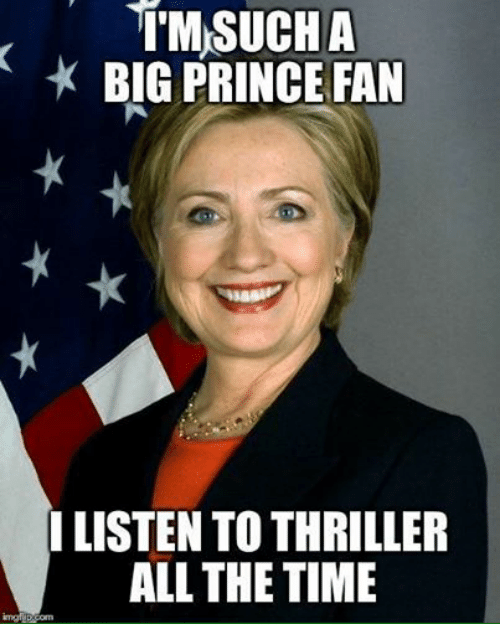 Prince, Time, and Dank Memes: TMSUCHA  BIG PRINCE FAN  LISTEN TOTHRILLER  ALL THE TIME
