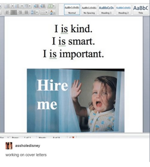 normal heading 1 i is kind i is smart i is important hire