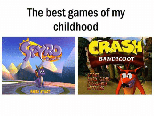 Crash Bandicoot, Relationships, and Best: The best games of my  childhood  CRASH  BANDICOOT  DRAG  START  AD GAME  DASSMORD  PRESS START