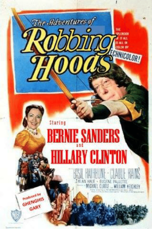 Bernie Sanders, Hillary Clinton, and Conservative: The dilahentures of  CHNICOLOR!  Staring  BERNIE SANDERS  and  HILLARY CLINTON  GARY