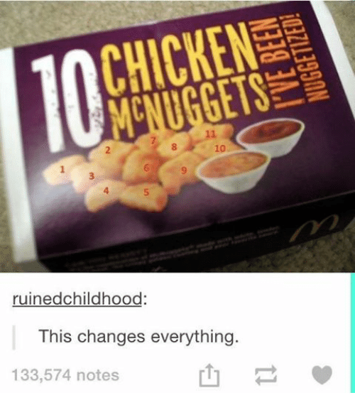 This Changes Everything: CHICKEN  ruinedchildhood  This changes everything  133,574 notes