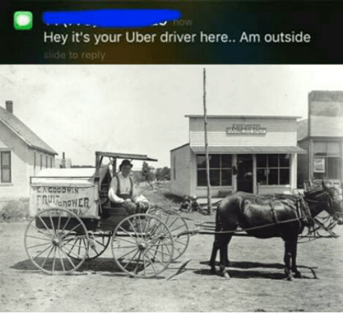 Uber, Uber Driver, and Controversial Cowboy: Hey it's your Uber driver here.. Am outside  do to reply