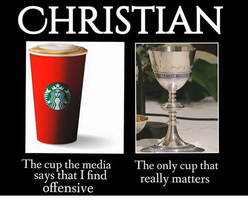 Episcopal Church : CHRISTIAN  The cup the media The only cup that  says that I find  really matters  offensive