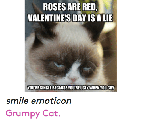 cats ugly and valentines day rosesare red valentines day isalie youre singlebecause