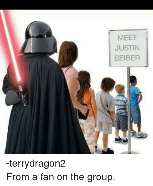 Star Wars: MEET  JUSTIN  BEIBER -terrydragon2 From a fan on the group.