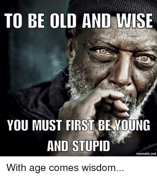 with age group happens wisdom