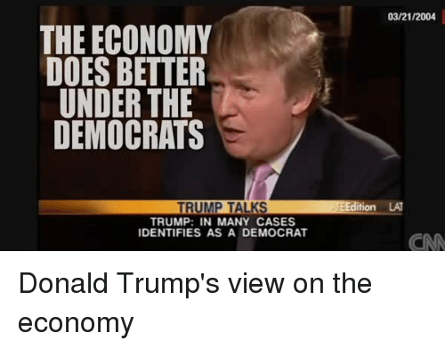 What is a Democratic take on the Economy?