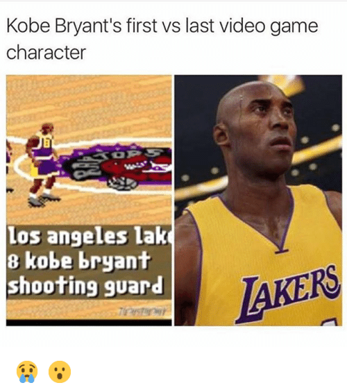"Basketball, Kobe Bryant, and Los Angeles Lakers: ""Kobe Bryant's first vs last Video game Character 😢 😮"