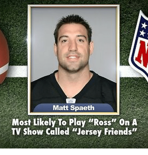 """Friends, TV Shows, and Girl Memes: Matt Spaeth  Most Likely To Play """"Ross'' on A  TV show called """"Jersey Friends"""""""